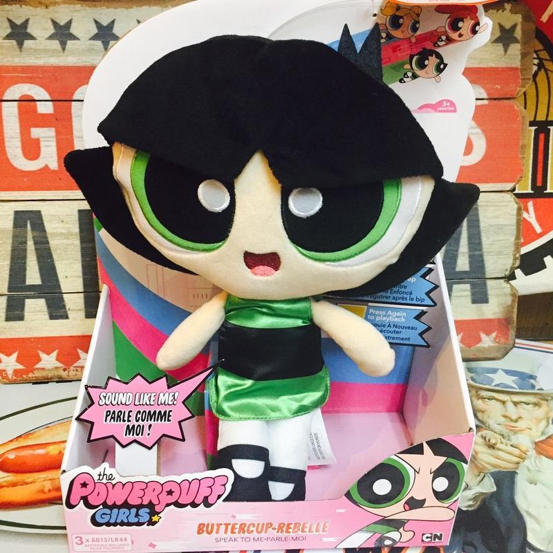 【USA直輸入】パワーパフガールズ バターカップ トーキング プラッシュ おしゃべり ぬいぐるみ 30cm