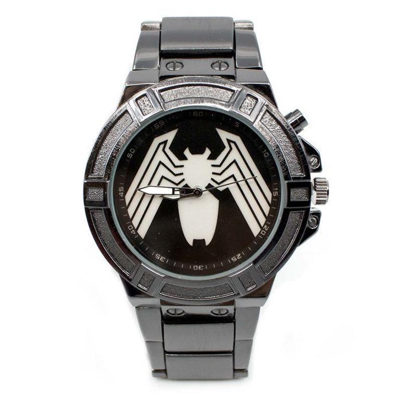 【USA直輸入】MARVEL ヴェノム バックライト シンボル リストウォッチ 腕時計 マーベル 正規ライセンス  ベノム スパイダーマン ピーターパーカー Venom