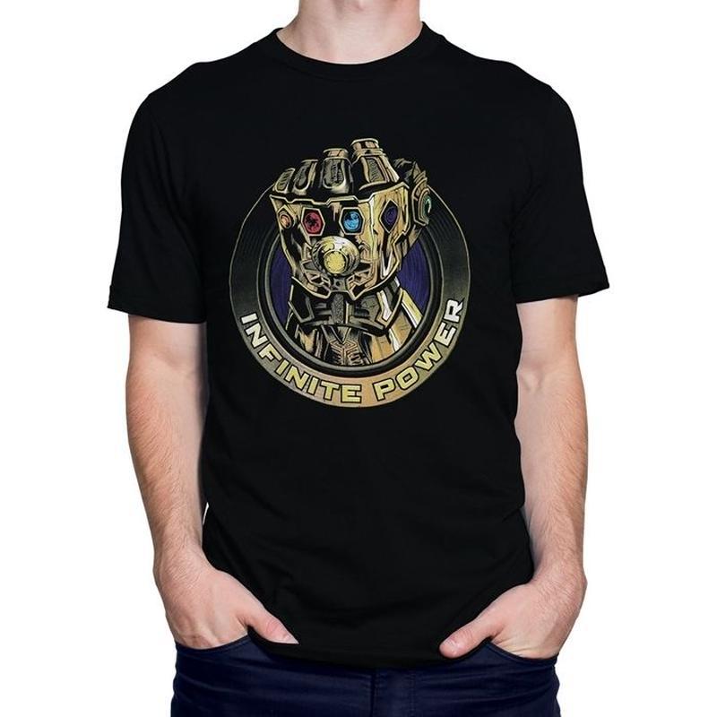 【USA直輸入】MARVEL アベンジャーズ インフィニティウォー サノス パワー フィスト Tシャツ ガントレット マーベル