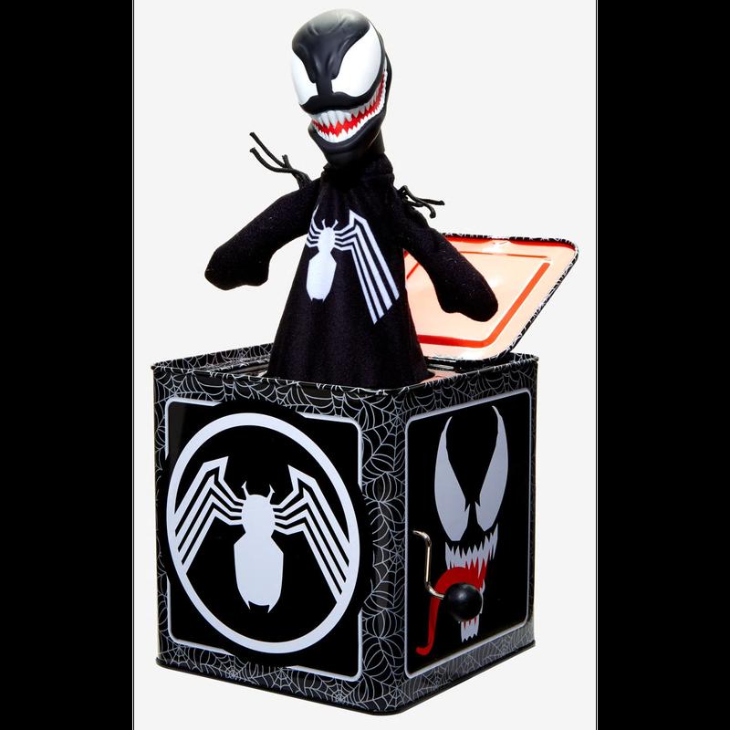 【USA直輸入】MARVEL ヴェノム VENOM ジャックインザボックス ビックリ箱 フィギュア スパイダーマン ベノム トムハーディー Jack-In-The-Box