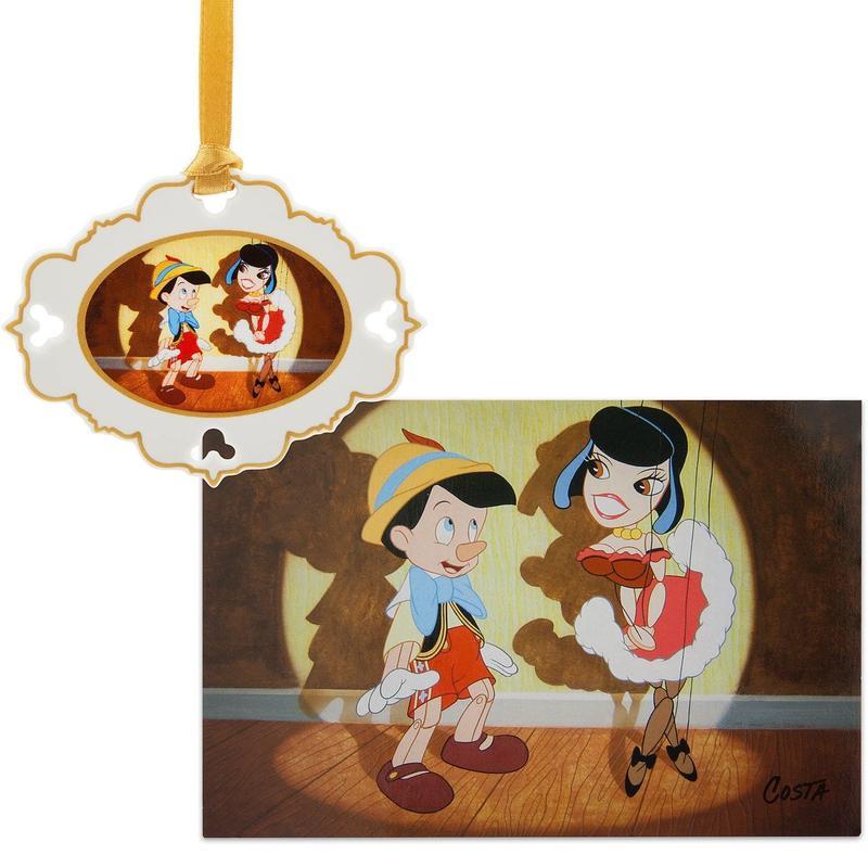 【USA直輸入】DISNEY ピノキオ アーティスト シリーズ スケッチブック 限定品 オーナメント & リトグラフ  セット  ディズニー Pinocchio ピノッキオ   ディズニー