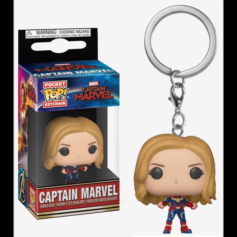 【USA直輸入】ポケットPOP! MARVEL キャプテンマーベル FUNKO キーチェーン キーホルダー マーベル   Captain Marvel