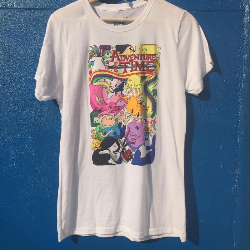 【USA直輸入】  アドベンチャータイム 白地  Tシャツ  レディース XL