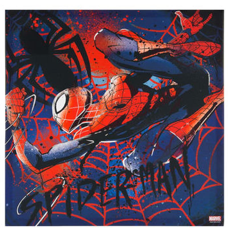 【USA直輸入】MARVEL スパイダーマン 斑点 キャンバス ウォールデコ 看板 ポスター   壁掛け インテリア