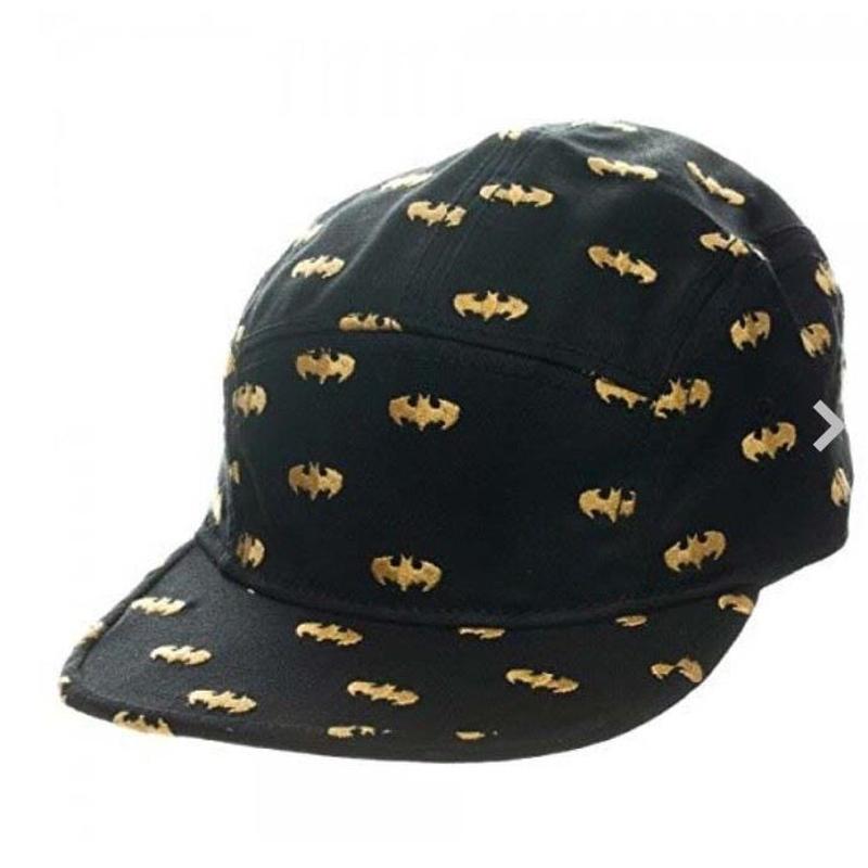 【USA直輸入】DCコミックス バットマン ロゴ 黒 スナップバック 帽子 キャップ DC
