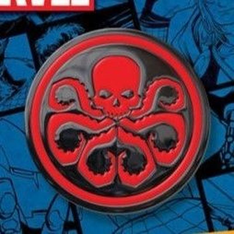 【USA直輸入】 MARVEL ヒドラ エナメル ロゴ ピン マーベル ピンズ ピンバッジ Hydra レッドスカル ウィンターソルジャー