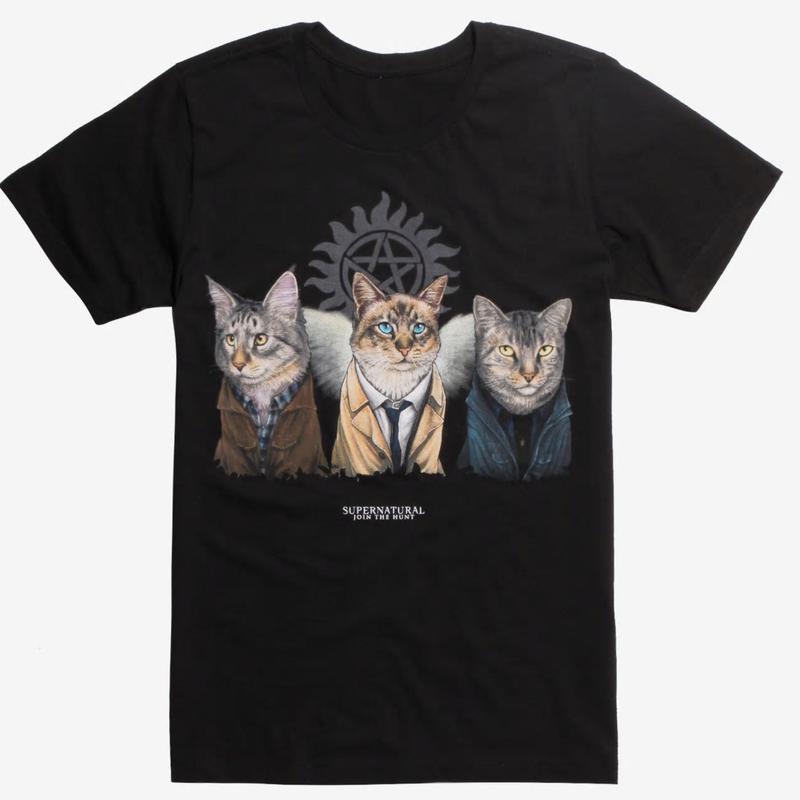 【USA直輸入】スーパーナチュラル ジェニイパーク 公園 キャッツ 猫 Tシャツ Supernatural  ネコ 3匹