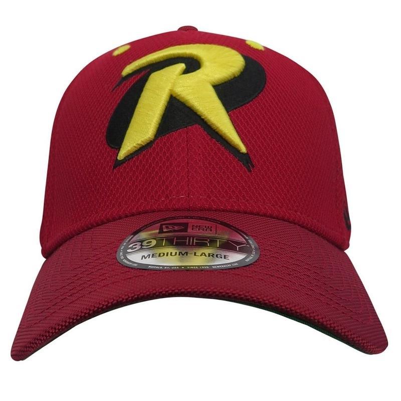 【USA直輸入】DC ロビン シンボル ベーシック アーマー ロゴ ニューエラ キャップ 限定品 裏生地あり NEWERA 39Thirty Fitted 帽子 ハット バットマン DCコミックス