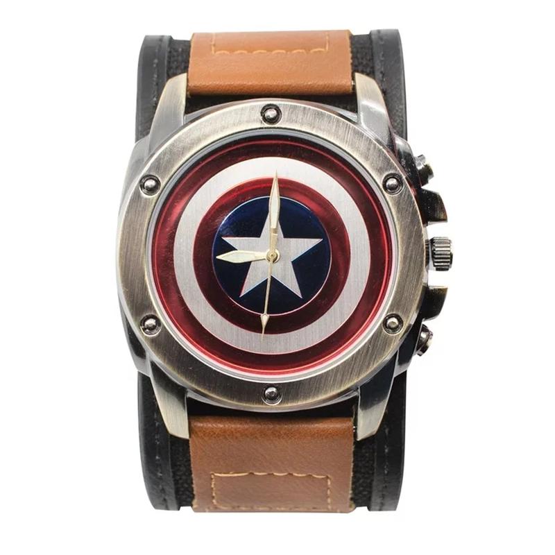 【USA直輸入】MARVEL キャプテンアメリカ シールド リストウォッチ 腕時計 マーベル 正規ライセンス   ロゴ Captain America Shield