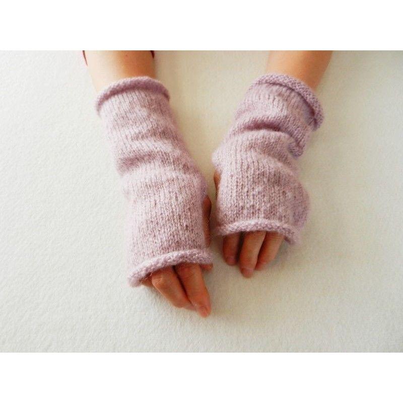 Dusty Purple  ハンドウォーマー/指なし手袋 05