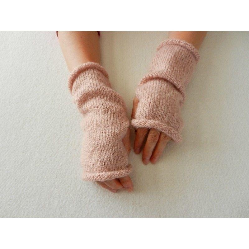 Dusty Pink  ハンドウォーマー/指なし手袋 05