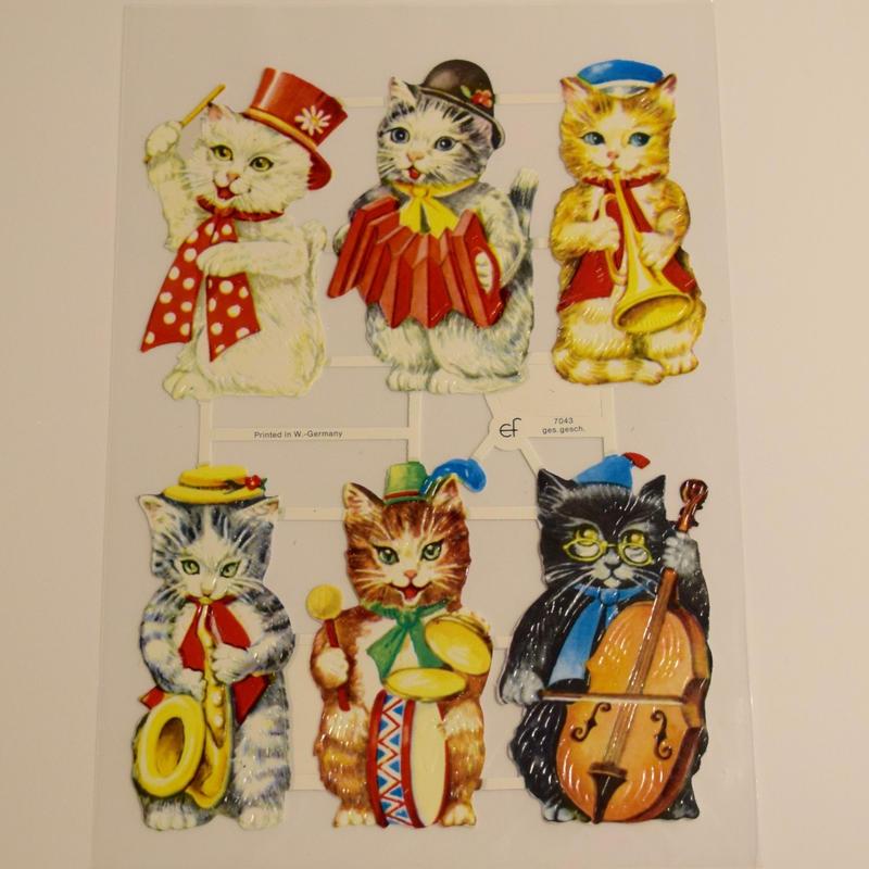 ドイツ クロモス 猫の音楽隊