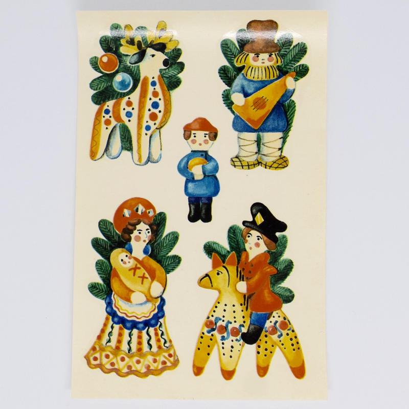 旧東ドイツ 水シール クリスマス お人形