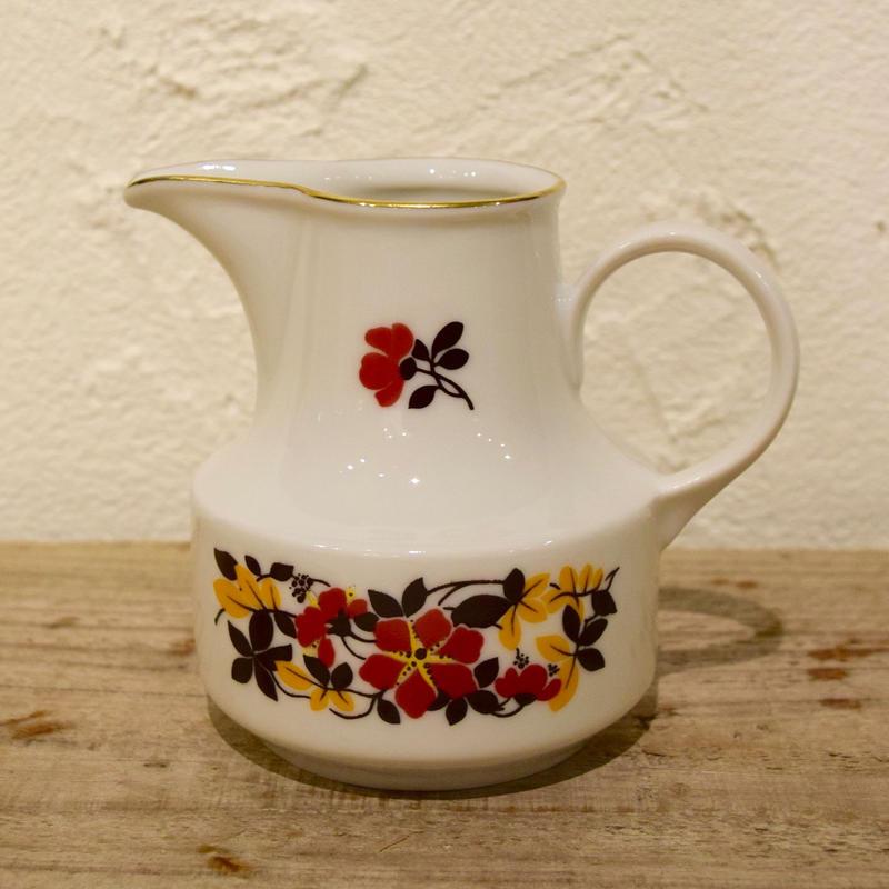 旧東ドイツ 落ち着いた花模様のミルクピッチャー