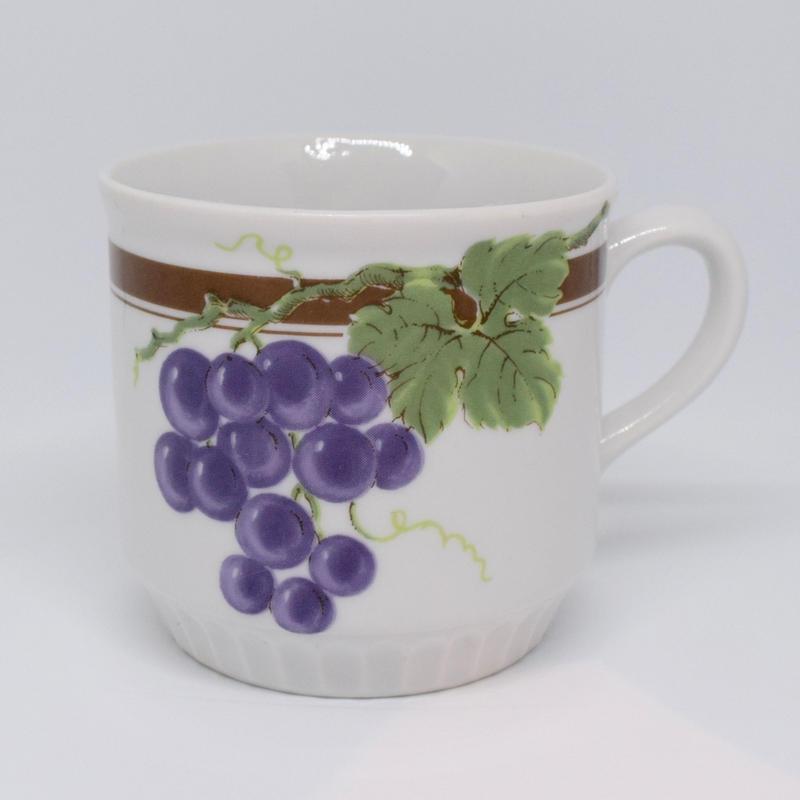 チェコ DUBI社 ぶどうマグカップ