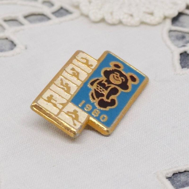 こぐまのミーシャ 小さめバッジ ブルー