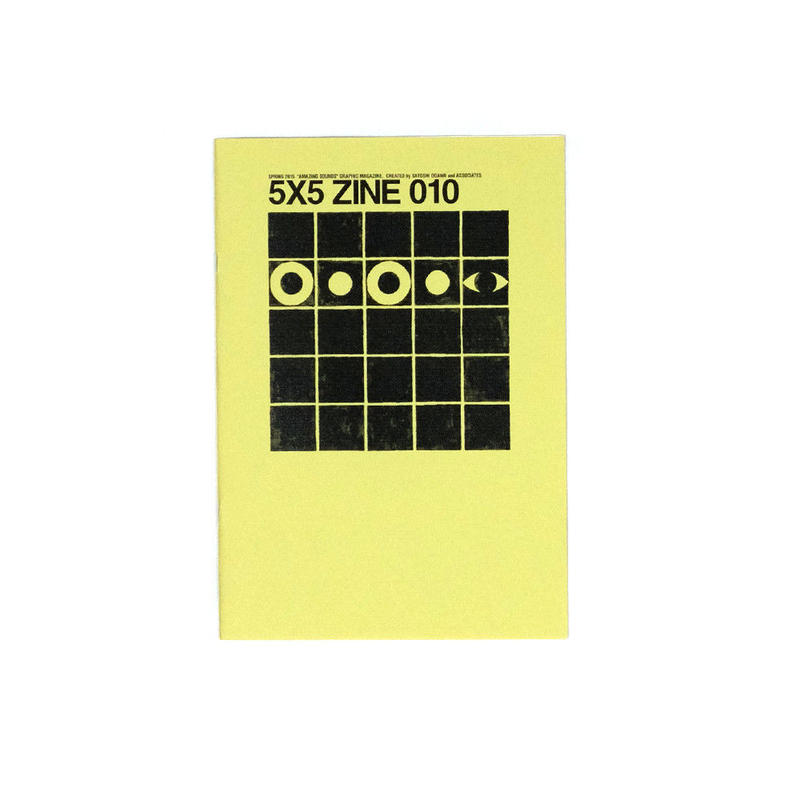"""ミュージックガイド """"AMAZING SOUNDS"""" GRAPHIC MAGAZINE「5X5 ZINE 010」"""