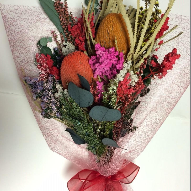 【大人気】太陽の花「バンクシア」の花束  プレゼントに最適!!(珍しいオーストラリアン・プリザーブド)お祝い・プレゼント・母の日にも最適!!