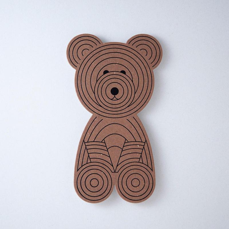 北海道ポストカード 木彫りのクマ