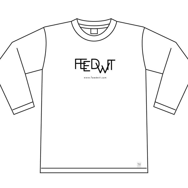ロゴ ロンT <ホワイト>【FEEDWIT】
