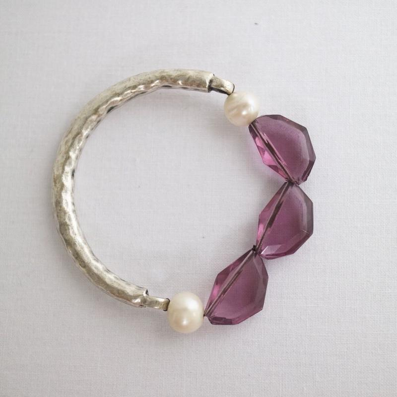 Pearl-glass bracelet P