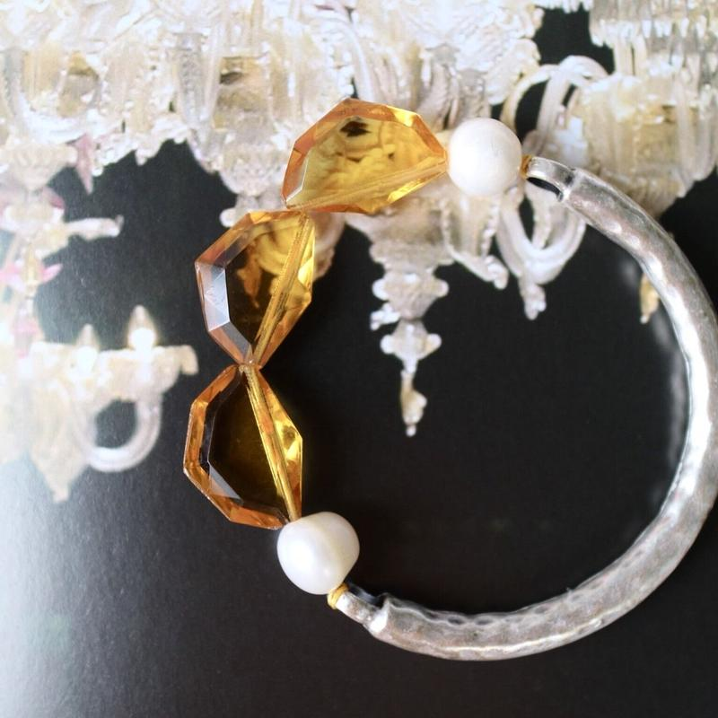 Pearl-glass bracelet Y