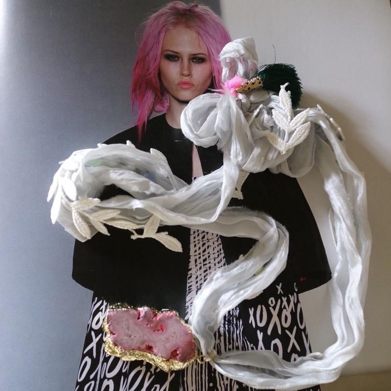 Silk ribbon ネックレス
