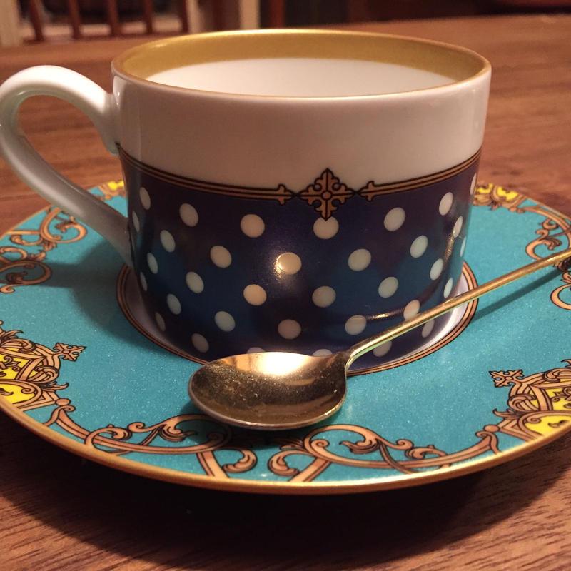 西洋風のお気に入りのコーヒーカップ