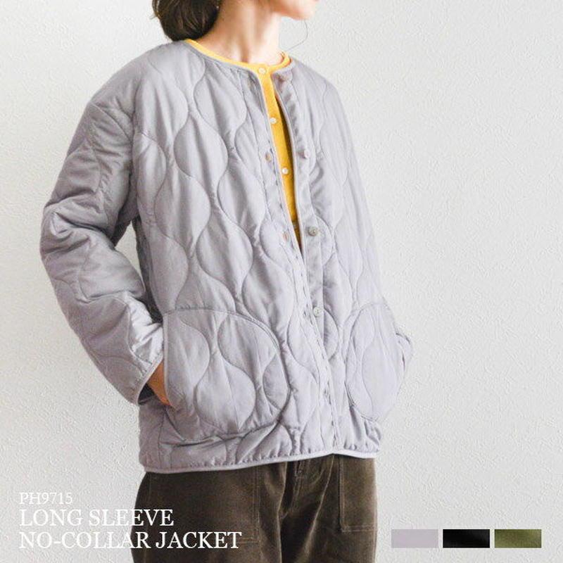 ノーカラー ショート キルティングジャケット(PH9715)