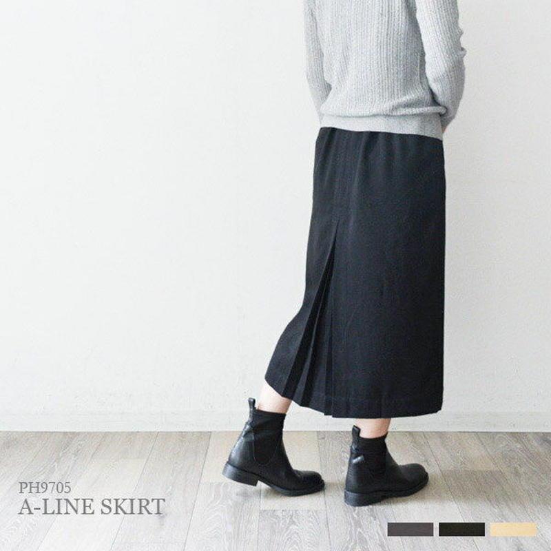 バックプリーツ ソフトAラインスカート(PH9705)