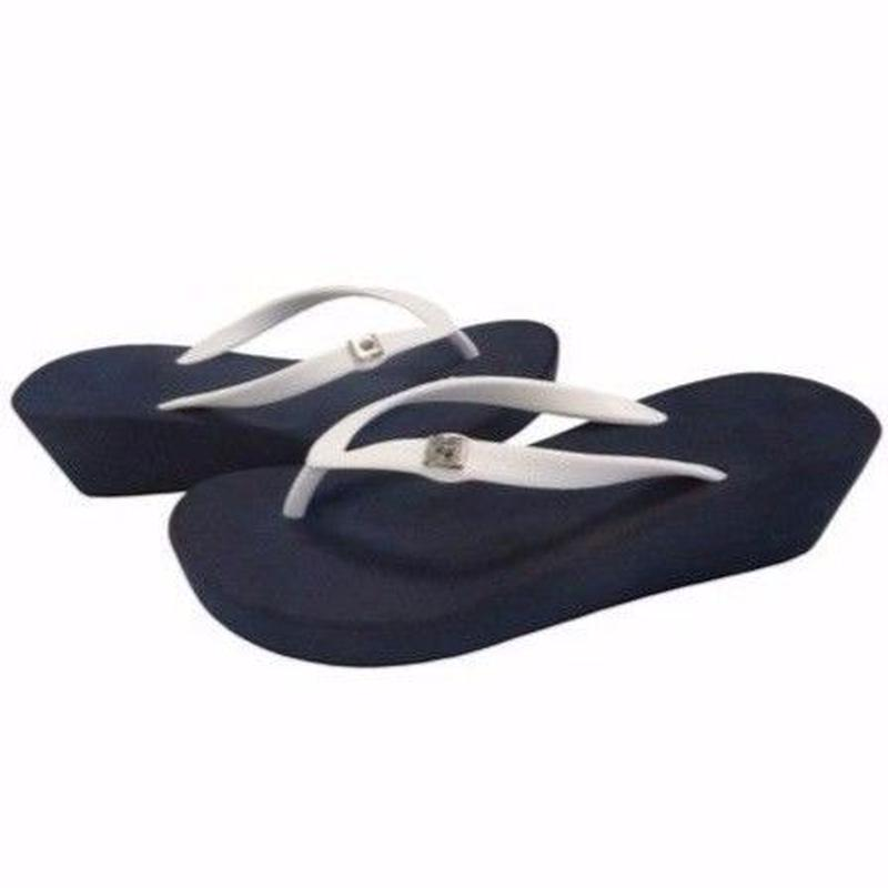 5CM Two Tone Wedges - Navy×White