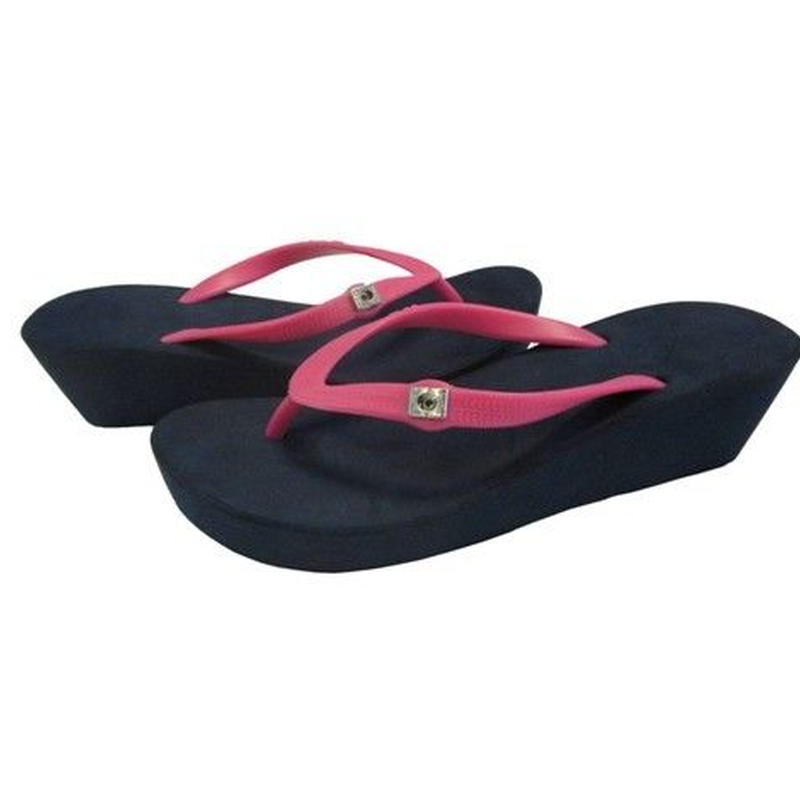 5CM Two Tone Wedges - Navy×Fuchsia