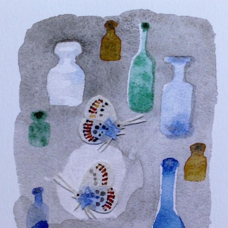 絵葉書「青いビン」