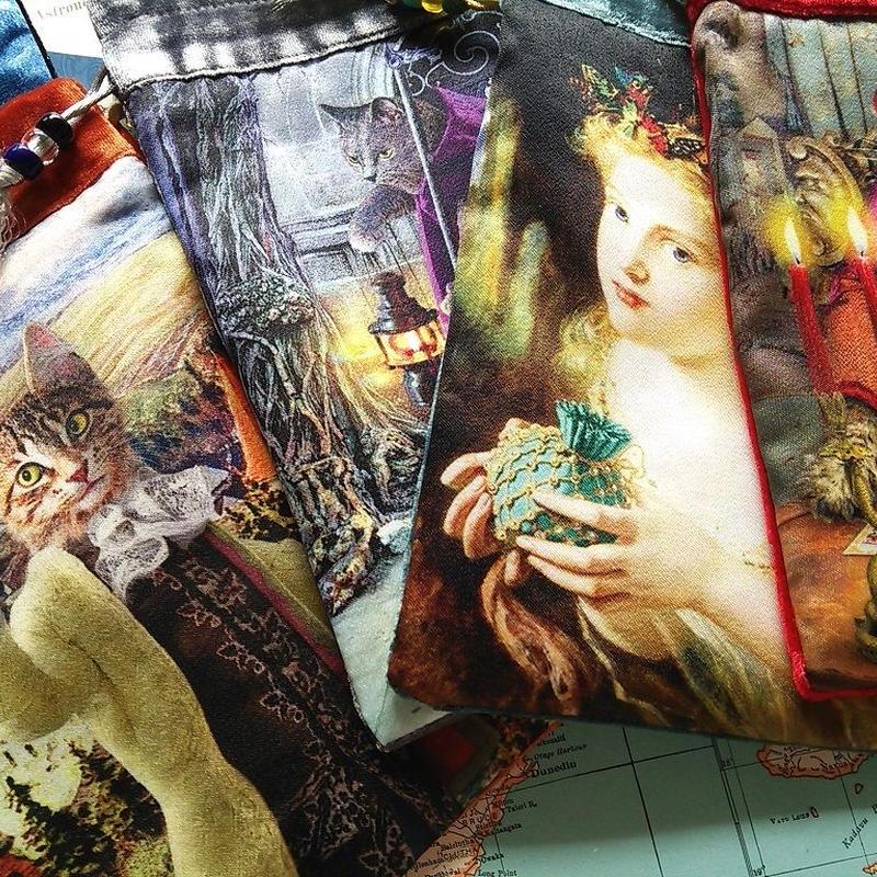 【限定入荷】5種類 バロック ボヘミアン キャッツ /天使/タロットポーチ◆◆The Baroque Bohemian Cats' Tarot Bag
