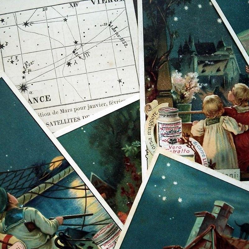 1903年 LIEBIG◆星座6種アンティーク・ビンテージカード
