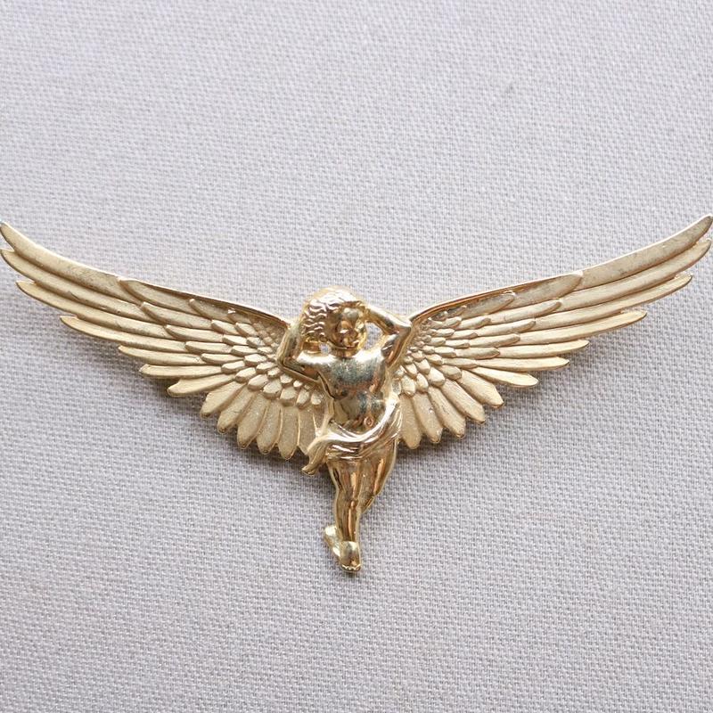 JJ ヴィンテージブローチ  大きな翼のエンジェル