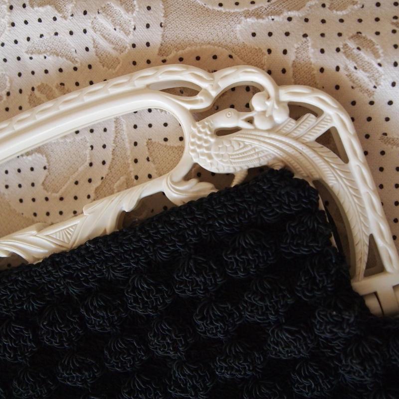 1930s ヴィンテージピーコックハンドルミニバッグ