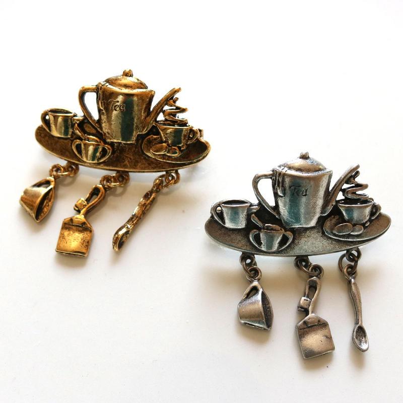 JJ / Jonette Jewelry company 紅茶好きさんのためのヴィンテージブローチ