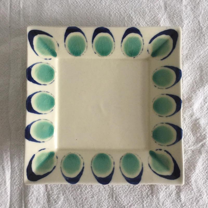 宮城陶器 角皿大