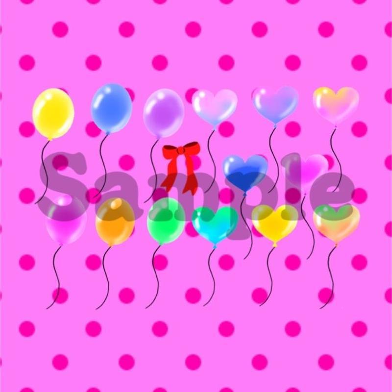 コラージュ素材*Balloon heart