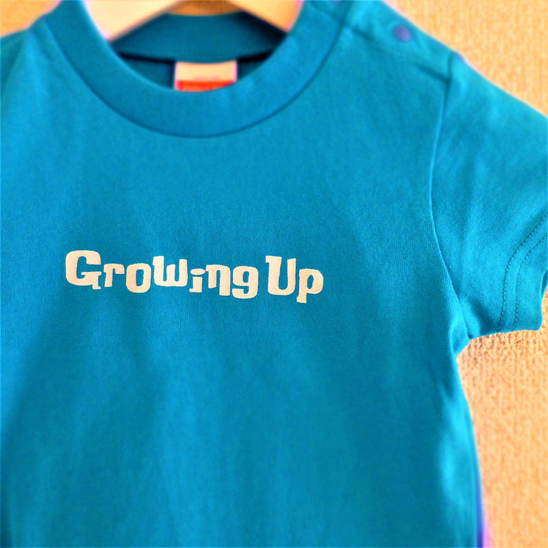 T SHiRT for KiDS 90cm - Growing Up - #TURQUOiSEBLUE x WHiTE