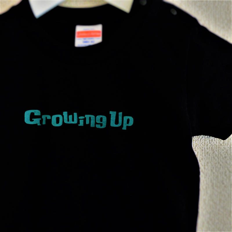 T SHiRT for KiDS 90cm - Growing Up - #BLACK x GREEN