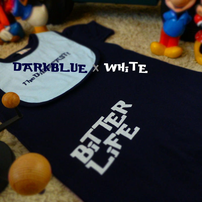 ROMPERS and BiB  - BiTTER LiFE - #DARKBLUE x WHiTE