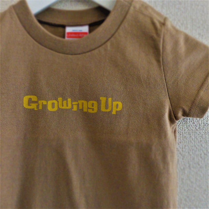 T SHiRT for KiDS 90cm - Growing Up - #SANDKHAKi x YELLOW