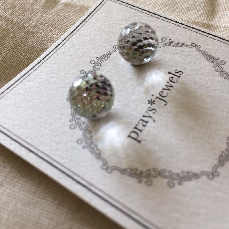 vintage swarovski magnet pierced・earringsノンホールピアス