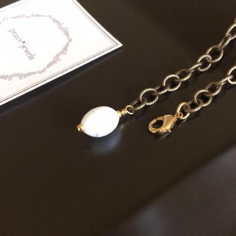 vintage white bijox bracelet