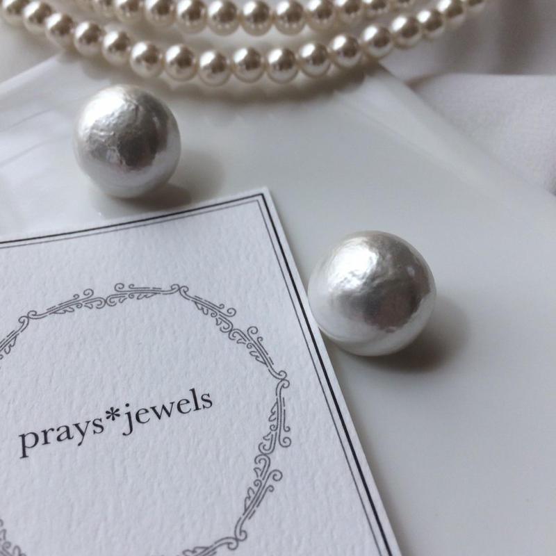 ペーパーマッシェ magnet pierced・earringsノンホールピアス