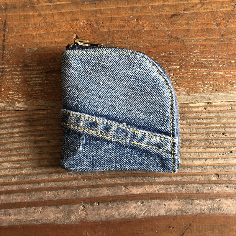 Dirty Leather denim coin case④