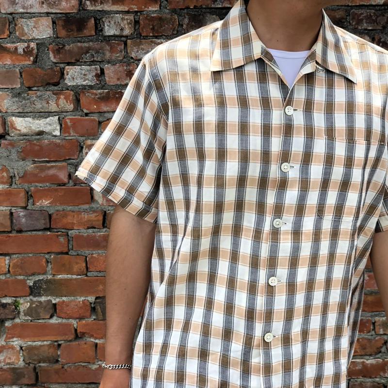 1950年代シェルボタン チェックシャツ