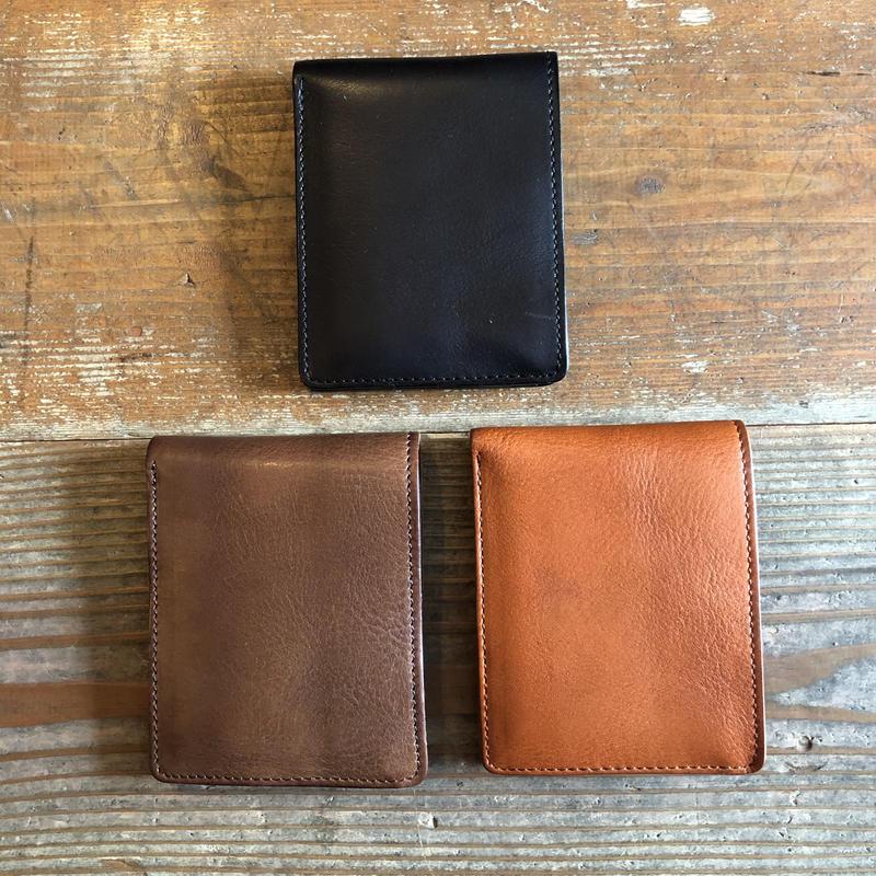 Dirty  Leather bi-fold wallet